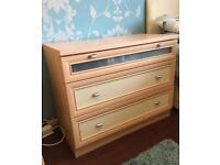 Chest of drawers, wardrobe + 2 other pcs set