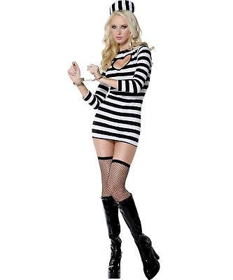 Sexy Halloween Adult Convict Girl Jailbird Costume - Sexy Kostüm Jailbird