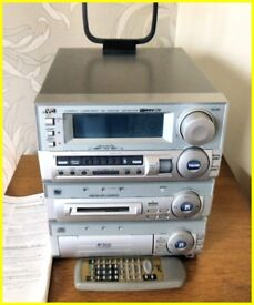JVC CA-MD70R COMPACT COMPONENT MD SYSTEM