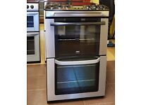55cm Zanussi Cooker, Double Fan Assisted Oven/Grill- 6 Months Warranty