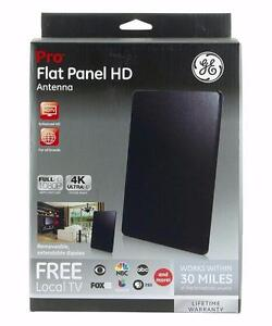 GE 33688 Pro Flat Panel HD Antenna - Indoor VHF / UHF HDTV Antenna - 30 Mile Range