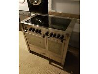 Very Good Condition Kenwood Silver Range Cooker. Stainless Steel