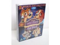 DISNEY LADY AND THE TRAMP 1&2 BLURAY SET NEW SEALED REGION B