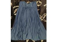 Stunning blue ASOS size 10 dress in 50's style strapless