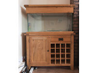 Madienhead Aquatics Aqua Oak Aquarium Cabinet and Tank