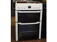 60cm Beko Ceramic Cooker, Double Oven / Grilll - 6 Months Warranty