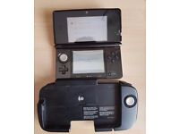 original Nintendo 3DS Black with Circle Pad Pro