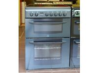 60cm Indesit Ceramic Cooker, Double Fan Assisted Oven/Grill- 6 Months Warranty