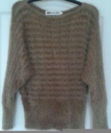 Brown Fur Top, UK 10