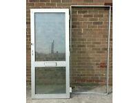 Aluminium double glazed external door and frame