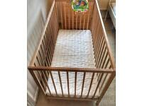 Baby Cot , Bouncy Chair and Moses Basket