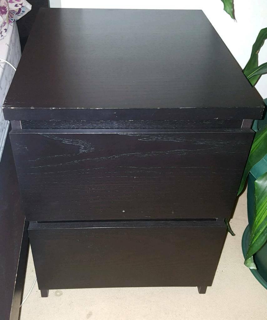 Black Ikea Malm Bedside Table In Acton London Gumtree