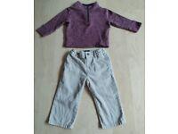 2 Piece The Children's Place Baby Clothes Bundle Set 12-18 Months