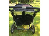 Out n About Nipper Double 360 Pram (Black)