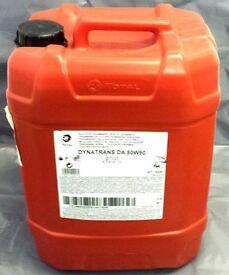 VARIOUS 20L DRUMS OF ENGINE TRANSMISSION OIL TOTAL ELF 80W90 75W