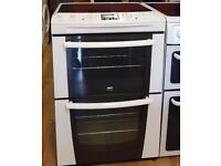 60cm Zanussi Ceramic Cooker, Double Fan Assisted Oven / Grill- 6 Months Warranty
