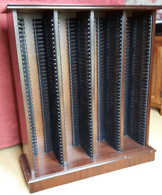 Mahogany CD storage rack - holds 160 CDs max