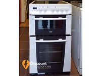 50cm Zanussi Ceramic Cooker, Double Oven / Grill ( Fan Assisted) - 6 Months Warranty