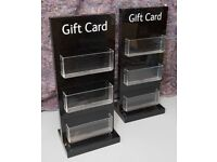 Shop Counter giftcard stands x2