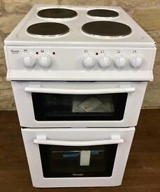 BRAND NEW 50CM FREESTANDING TWIN CAVITY ELECTRIC COOKER IN WHITE BARGAIN !!!