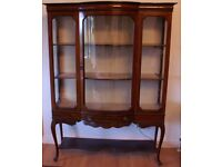 Edwardian Inlaid Mahogany Glass-fronted Display Cabinet