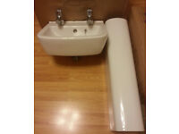 Basin and pedestal with taps brand new