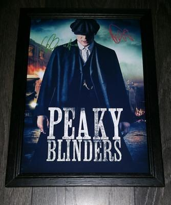 """PEAKY BLINDERS PP SIGNED & FRAMED A4 12X8"""" PHOTO POSTER ARTHUR THOMAS SHELBY"""