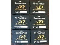 6 x Fujifilm XD picture cards