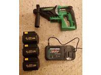Hitachi Koki 24v cordless SDS drill - 3 batteries - Excellent working condition