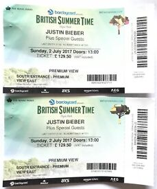 2x JUSTIN BIEBER BST, PREMIUM VIEW, 2ND JULY