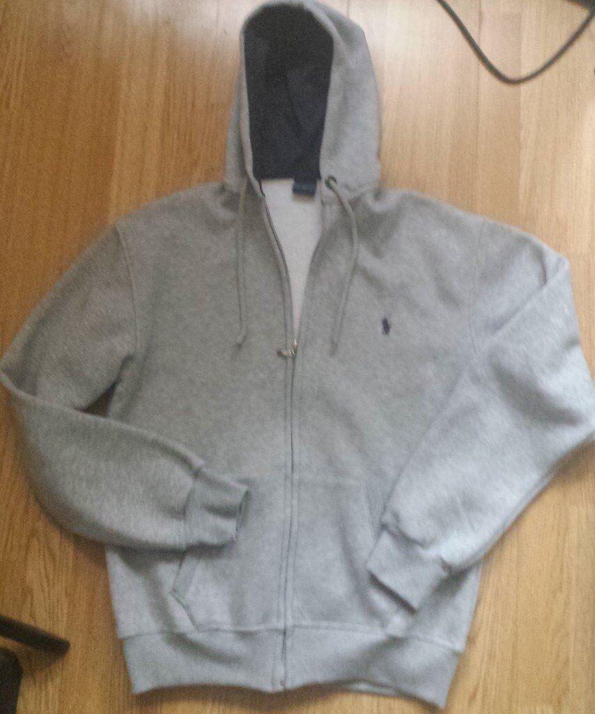 Ralph Lauren grey zip up hoodie Size L