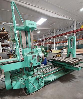 Secam Hbm 3 Bar Horizontal Boring Millrotary Table4mt With Spi Quick Change.