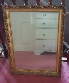 Mirror, Vintage Gold Coloured Frame