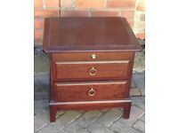 Stag mahogany set of bedside drawers