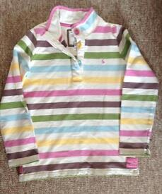 Girls JOULES Striped Top Jumper Age 11-12