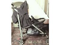 Mother care Double pram with rain cover