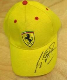 Michael Schumacher hand signed Ferrari F1 cap with Coa