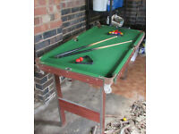 Snooker Table and equipment