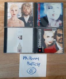 JOB LOT BULK X4 VARIOUS EURYTHMICS ALBUMS CD'S. BATCH E