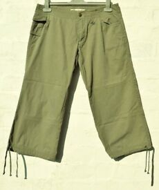 "Animal Small Ladies or Men's Khaki Cropped ¾ Length Surfer Trousers W32"" & L22"""