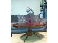 Beautiful Round Hand Carved Wooden Coffee Table