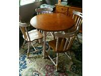 Dining table+4 chairs. £70
