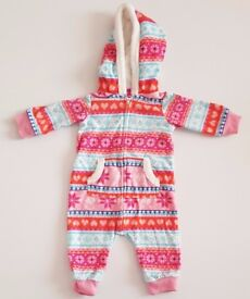 Girls' Colourful Pramsuit (6 months)