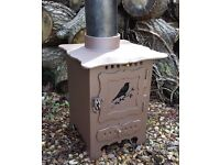 Vintage Shabby Chic Wood Burning Stove / Wood Burner / Heater / Fire / Summer house / Camping