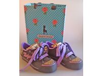 Babycham platform trainers black and purple leopard print Size 6 NEW unworn