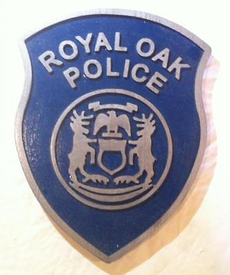 Police Royal Oaks 3D  routed custom wood Patch plaque Sign Custom