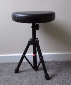 Piano, drum stool, Black Faux Leather Padded seat, stool, foot stool, photography seat, music