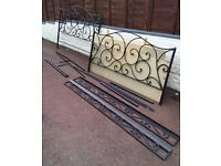 Metal 4-Poster King Size Double Bed