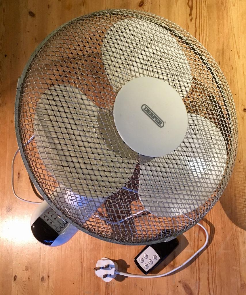 Draper Wall Mounted Fan with Remote Control 3