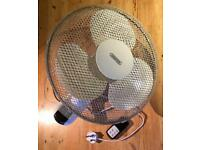 Draper Wall Mounted Fan with Remote Control 3 Speed - Office Gym Home